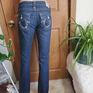 🎉True Religion BILLY Straight leg bling pockets L